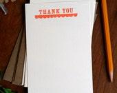 Scallops Thank You Letterpress Printed Notecard