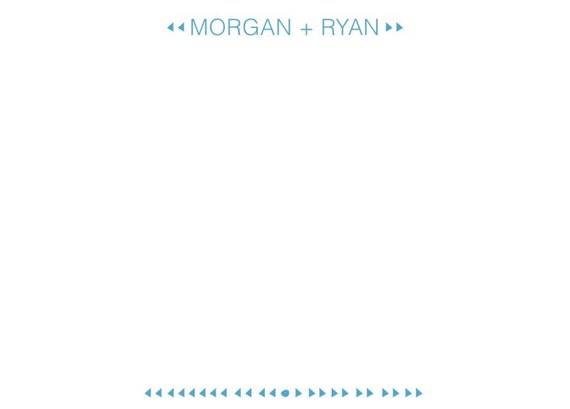 Custom Stationery for Morgan and Ryan