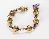 Light Topaz Vintage Necklace and Bracelet Set