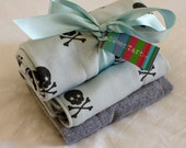Super Soft Skull & Cross Bones Burp Cloth