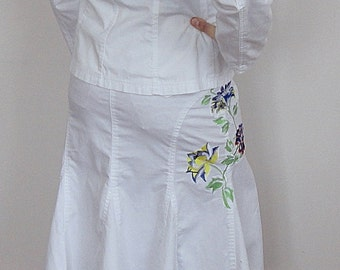 Cotton suit with Embroidery