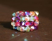 "Bling Ring ""cRaZy BeAuTIfuL"" Swarovski Crystal Ring"