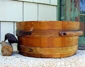 Vintage Wood Firkin Oak Bucket