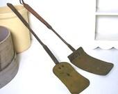 Vintage Brass Spatulas Rustic Hearth Cast Iron Handles
