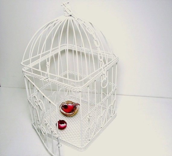 Birdcage White Wedding Shabby Cottage Chic Home and Garden