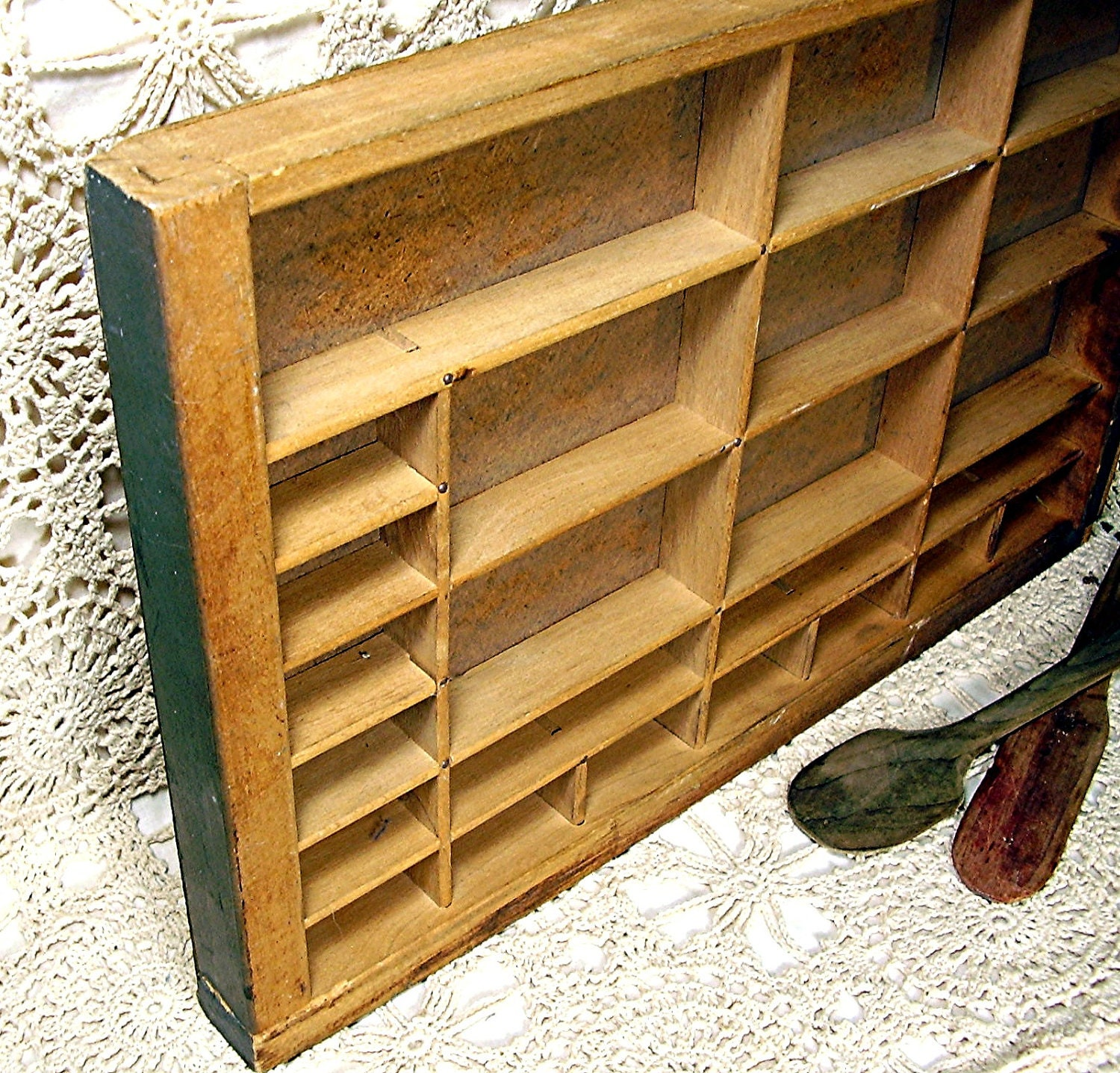 Antique Letterpress Drawer Vintage Printer Tray By