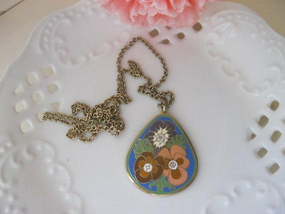 Vintage Cloisart Pendant Necklace
