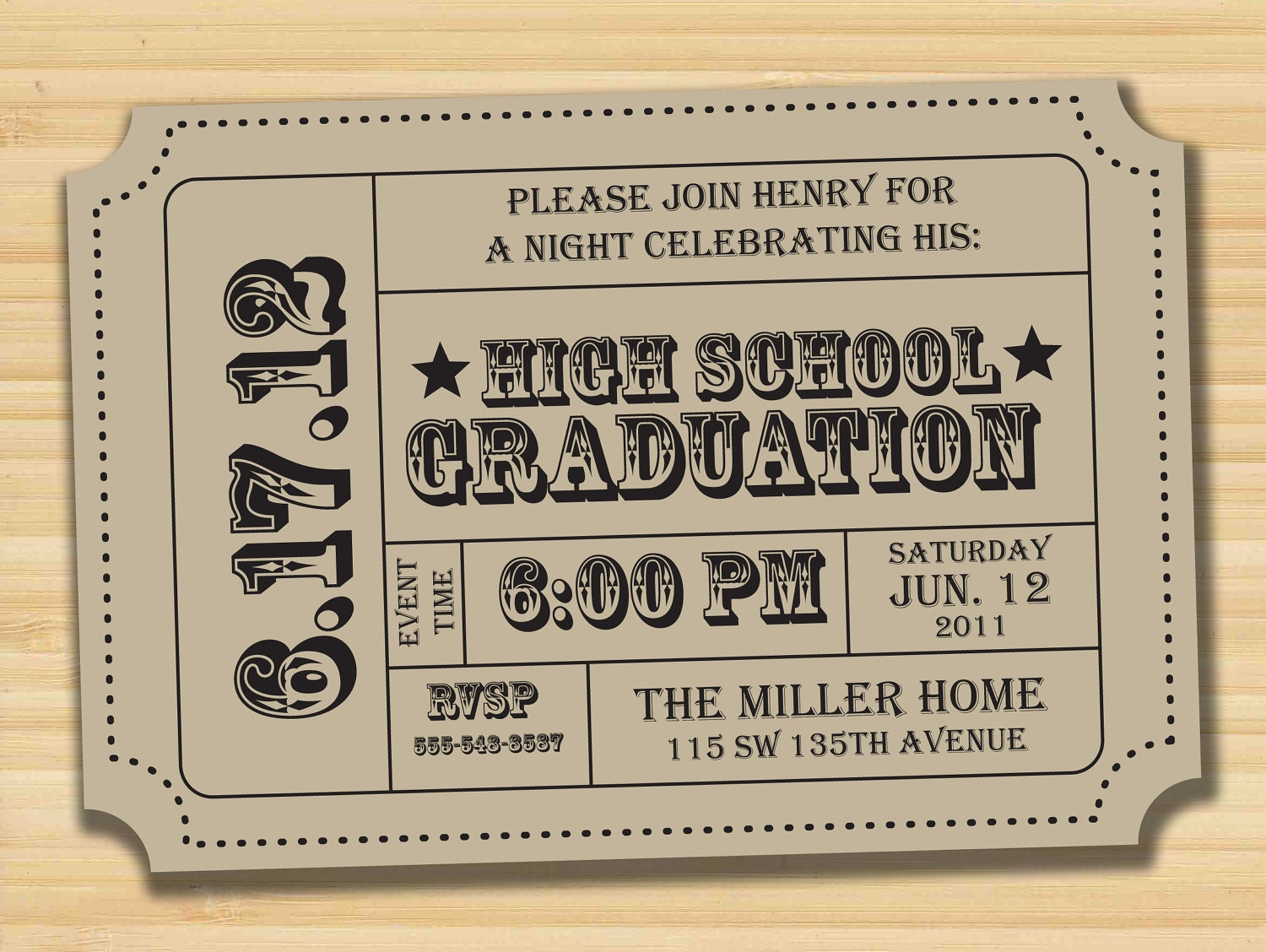 Ideas graduation party invitations ticket card graduation parties