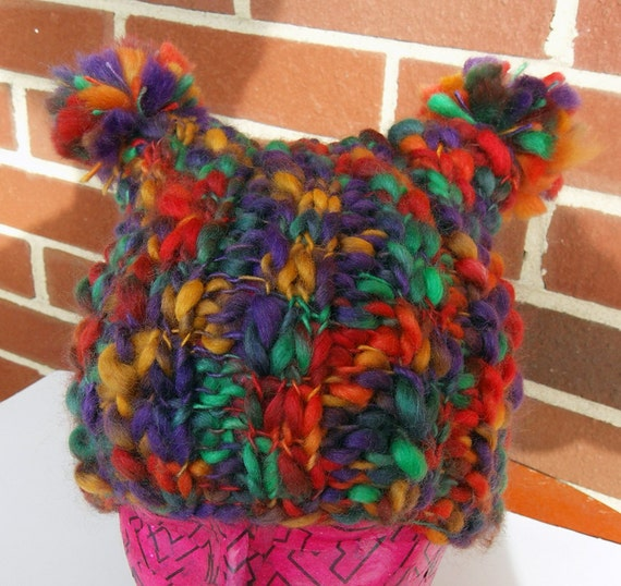 Multi Colored Knit Hat S or M SALE
