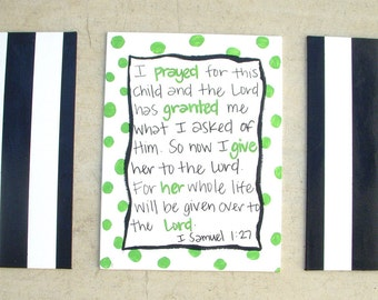 1 Samuel 1:27 Children's Nursery Art