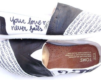 The Blakesly - Black and White Custom TOMS