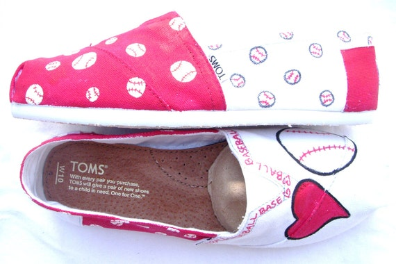 The Baller - Red and White Custom TOMS