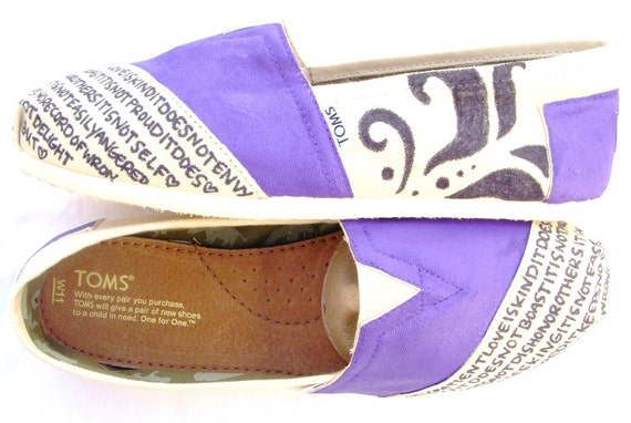 The Kennedy - Purple and Cream Custom TOMS