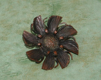 Antique Flower Brooch with C Clasp