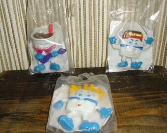 Vintage Three White Castle Castleburger Dudes 1991 Fry Dudette, Cheeseburger Dude, Drink Dude