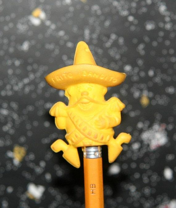 Vintage Frito Bandito Eraser Pencil Top By Frito Lay Rare