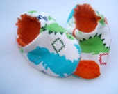 Newborn Baby Shoes Booties  Boy -  Dinosaurs