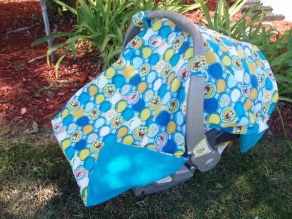 Baby Car Seat Canopy Sponge Bob