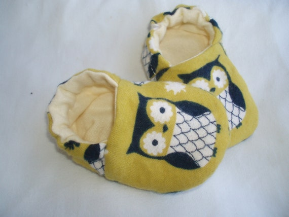 Baby Owl Newborn Baby Shoes Booties  -  Owls