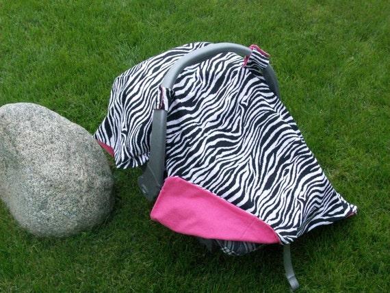Baby Car Seat Cover  Zebra