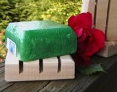 SIX MINI Cedar Natural Wood Spa Soap Dishes Make-Your-Own Gift Sets for Wedding Baby Shower Bed and Breakfast  Green