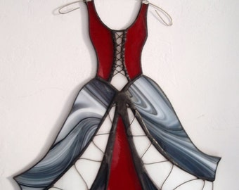Stained glass dresses, glass, art, home decoration