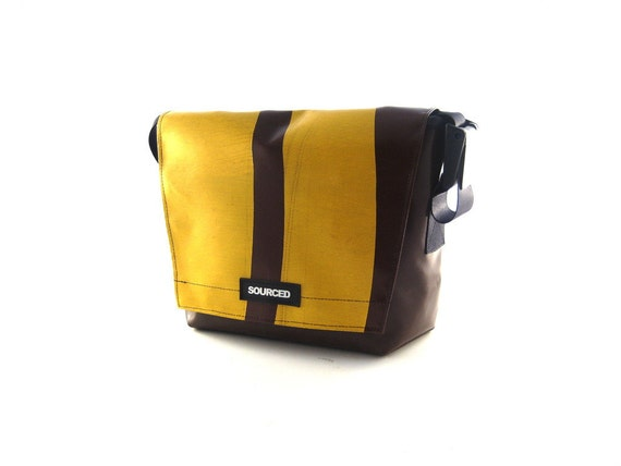 Messenger Man Bag made from upcycled Truck Tarpaulins 7.23