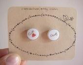 I Heart Art stud earrings