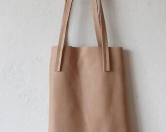 Powder pink leather bag