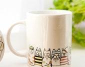 Cat coffee mug - Moggy Mug Coffee Mug. Tea cup, coffee cup, cup, hot drinks, coffee mug