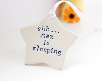 Baby Gift, Personalised Door Sign/Plaque/Hanger Star, Baby Shower Gift