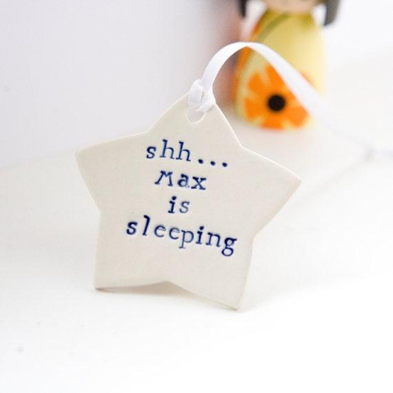 Baby Gift, Personalised Door Sign/Plaque/Hanger Star, Baby Shower Gift