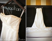 Personalized Bridal Hanger, Wedding Dress Hanger,  Wire/Wood Hanger  --- Great Gift