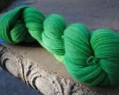 Hand-Dyed Heavy Lace 100% Wool Yarn- Emerald Isle
