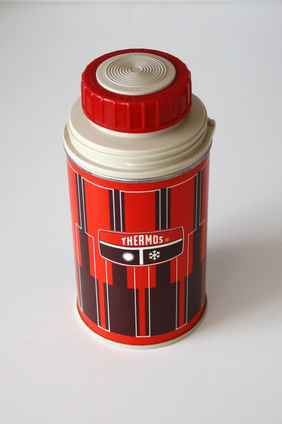 Vintage Red Half Pint Thermos on Etsy
