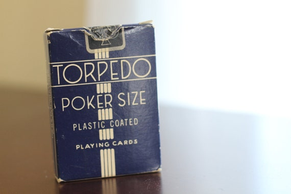 Vintage Torpedo poker sized playing cards - all 52 accounted for