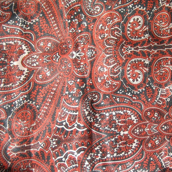 Shades of Red Rayon Lining Fabric - 60 Inch Width - 1.44 Yard
