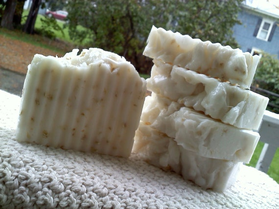 Oatmeal, Milk & Honey Soap Slice