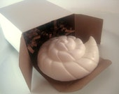 Nautical Wedding - Sea Shell Soaps in Gift Box with Upcycled Tag - Set of 30 Custom Wedding Favor Cottage Beach Decor