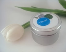 Clean Cotton Spa Candle 4oz Soy Blend Candle in Silver Tin