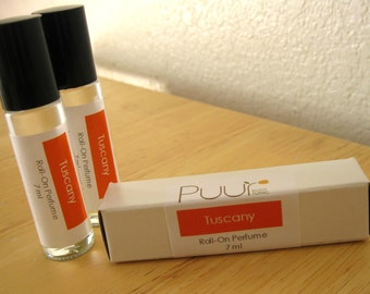 Tuscany Roll On Perfume in Gift Box Sexy Amber Cologne Scent VEGAN 7ml