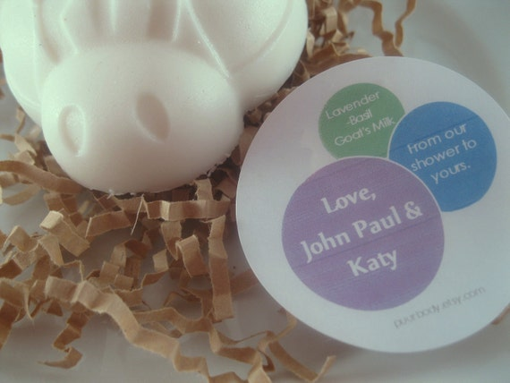 60 Custom Party Favors Ladybug Baby Shower Wedding Soap Favors Custom Label Garden Party