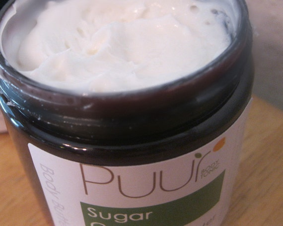 CLEARANCE SALE Sugar Cane VEGAN Body Butter Raw Cocoa Butter Body Lotion Thick Whipped Body Cream 8oz