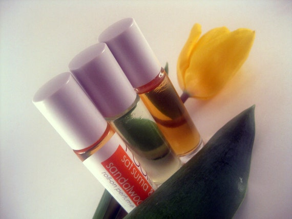 Roll on Perfume Paraben Free - Set of 3 - 7ml Glass Roll on bottle You Pick the Scent