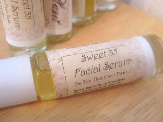 Facial Serum Oil  - Sweet 35 - Tea Tree Botanicals Rice Bran Oil Aloe