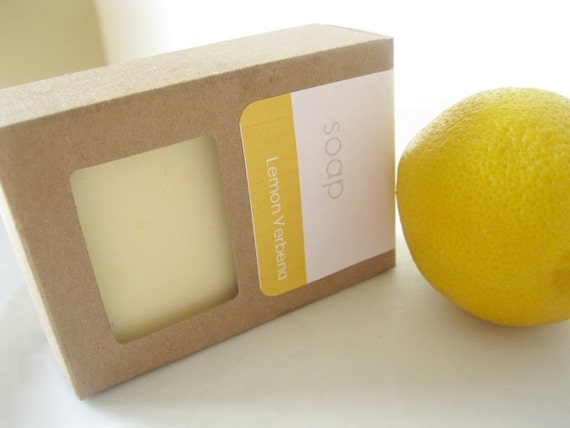 Shea Butter Soap - VEGAN - Lemon Verbena Olive Oil Soap - Handmade ...