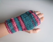 Already Thinking Spring - Green and Pink Fingerless Gloves