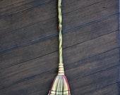 Handmade Kitchen Broom - Green Stormy Eyes