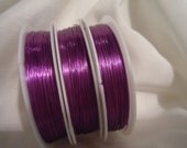 28 Gauge 92 Feet of Purple Wire, Perfect for making Jewelry: knitting, crocheting, twisting, and more