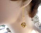 A New technique for me Golden Chandelier Earrings